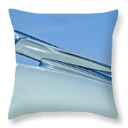 1949 Cadillac Fastback Hood Ornament Throw Pillow