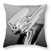 1949 Cadillac Hood Ornament 4 Throw Pillow