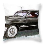 1949 Cadillac Sedanette Throw Pillow