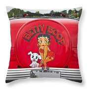 1949 Chevrolet Convertible Betty Boop  Throw Pillow