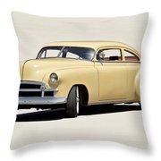 1949 Chevrolet Custom Fleetline Sedan II Throw Pillow