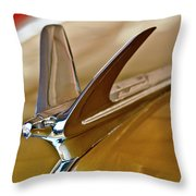 1949 Chevrolet Fleetline Hood Ornament Throw Pillow