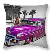 1949 Chevy Bomb_ 25a Throw Pillow