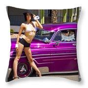 1949 Chevy Bomb_ 25d Throw Pillow