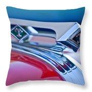 1949 Diamond T Truck Hood Ornament 3 Throw Pillow