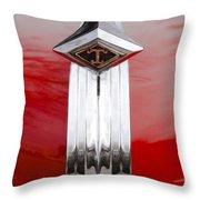 1949 Diamond T Truck Hood Ornament Throw Pillow