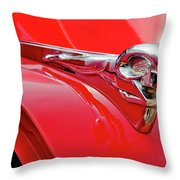 1949 Dodge Truck Hood Ornament Throw Pillow