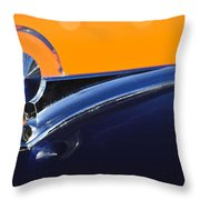 1949 Ford Hood Ornament 5 Throw Pillow