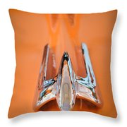 1949 Lincoln Coupe Hood Ornament Throw Pillow
