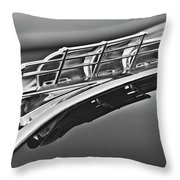 1949 Plymouth Hood Ornament 2 Throw Pillow