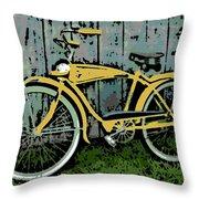 1949 Shelby Donald Duck Bike Throw Pillow