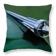1949 Studebaker Champion Hood Ornament 2 Throw Pillow