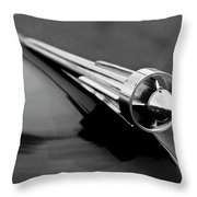 1949 Studebaker Champion Hood Ornament 3 Throw Pillow