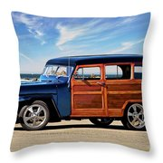 1949 Willys Woody Wagon I Throw Pillow