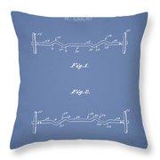 1950 Barbell Patent Spbb04_lb Throw Pillow
