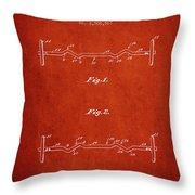 1950 Barbell Patent Spbb04_vr Throw Pillow