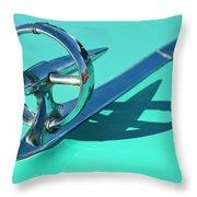 1950 Buick Hood Ornament Throw Pillow