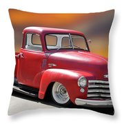 1950 Chevrolet 3100 Pickup 'show Low' I Throw Pillow