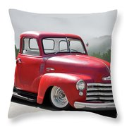 1950 Chevrolet 3100 Pickup 'show Low' II Throw Pillow