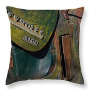 1950 Chevrolet Pickup Truck Emblem Throw Pillow