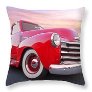 1950 Chevy Pick Up At Sunset Throw Pillow