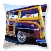 1950 Chrysler Royal Woody Throw Pillow