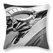 1950 Dodge Ram Hood Ornament Throw Pillow