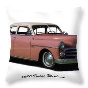 1950 Dodge Wayfarer 2 Door Sedan Throw Pillow