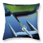 1950 Oldsmobile Rocket 88 Convertible Hood Ornament Throw Pillow