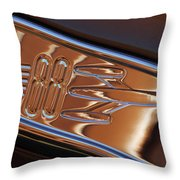 1950 Oldsmobile Rocket 88 Emblem 2 Throw Pillow