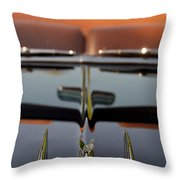 1950 Oldsmobile Rocket 88 Hood Ornament 3 Throw Pillow