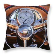 1950 Oldsmobile Rocket 88 Steering Wheel 2 Throw Pillow