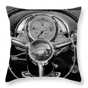 1950 Oldsmobile Rocket 88 Steering Wheel 4 Throw Pillow