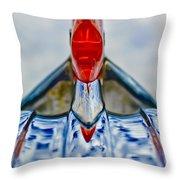 1950 Pontiac Hood Ornament 3 Throw Pillow