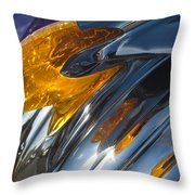 1950 Pontiac Hood Ornament 4 Throw Pillow