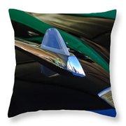 1950 Studebaker Custom Convertible Hood Ornament Throw Pillow