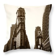 1950 Times Square New York Throw Pillow