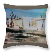 1950's - At The Hopi Village Throw Pillow
