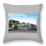 1950's Diner Throw Pillow