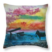 1950's - In The Hopi Village Throw Pillow