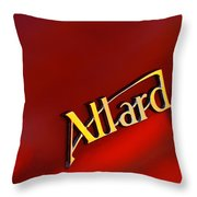 1951 Allard K2 Roadster Emblem Throw Pillow
