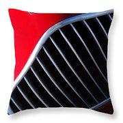 1951 Allard K2 Roadster Hood Ornament Throw Pillow