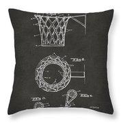 1951 Basketball Net Patent Artwork - Gray Throw Pillow
