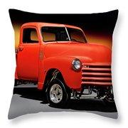 1951 Chevrolet 'gasser Style' Pickup I Throw Pillow