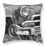 1951 Chevrolet Power Glide Black And White 2 Throw Pillow by Lisa Wooten