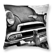 1951 Chevrolet Power Glide Black And White 3 Throw Pillow