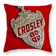 1951 Crosley Hood Emblem Throw Pillow