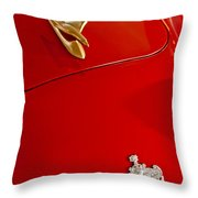 1951 Crosley Hot Shot Hood Ornament Throw Pillow