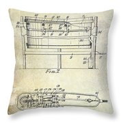 1951 Drum Patent  Throw Pillow