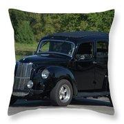 1951 English Ford Prefect Street Rod Sedan Throw Pillow